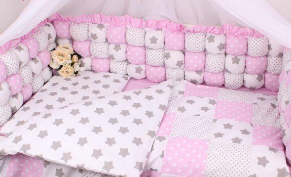 оформление детской кроватки для новорожденного своими руками
