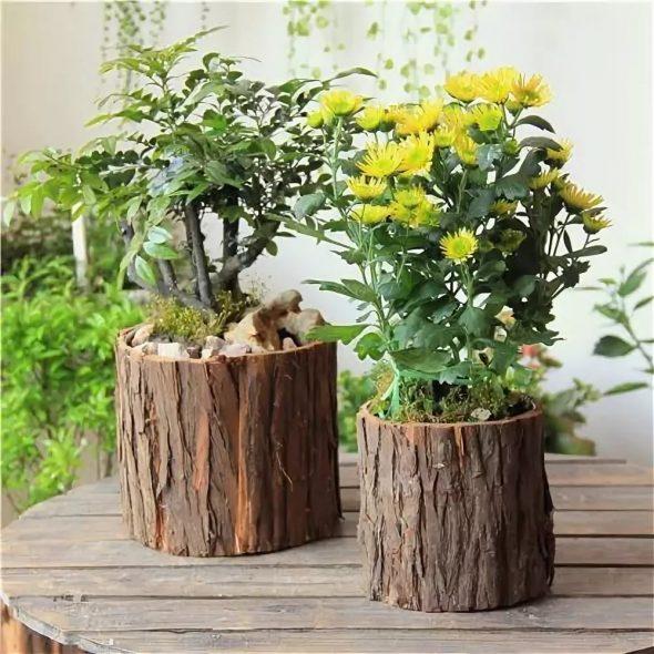 Цветочные горшки из дерева