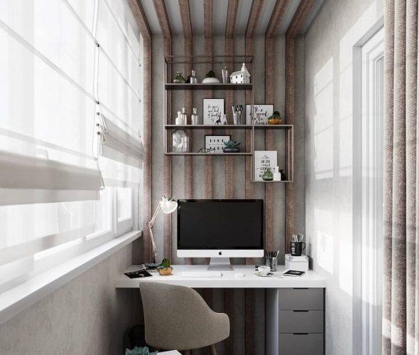 Балкон как кабинет