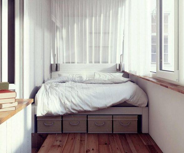 Балкон как спальня
