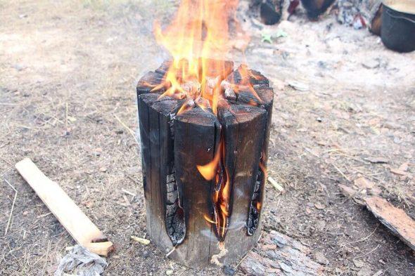 Очистка участка методом «финская свеча»