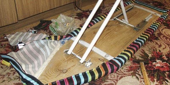 Перетягивание гладильной доски
