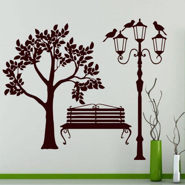 Деревья на обоях