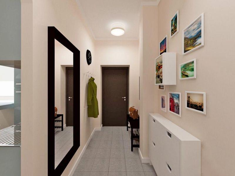 Как оформить длинную стену в коридоре: стильно и модно