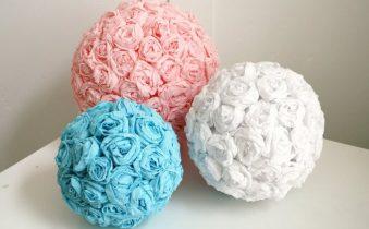 шары из бумажных салфеток