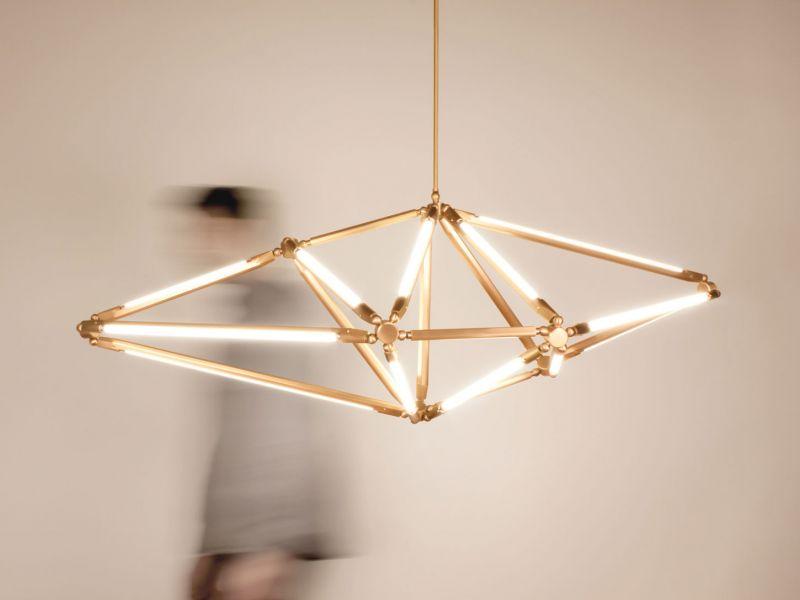 Светильники геометрических форм в интерьере: простая красота