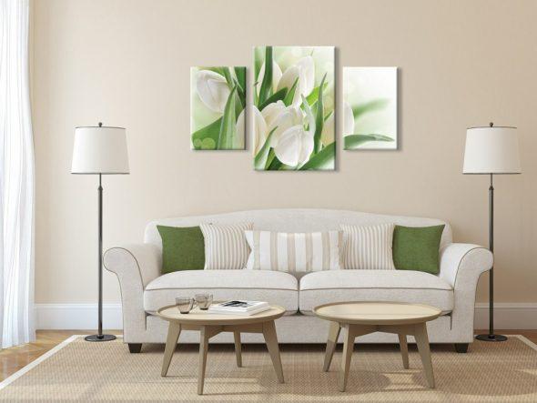 Постер с тюльпанами