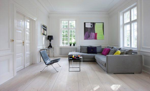 Комната с серым полом
