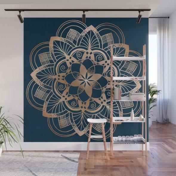 Мандала на стене в квартире