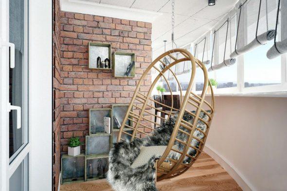 Подвесное кресло на лоджии