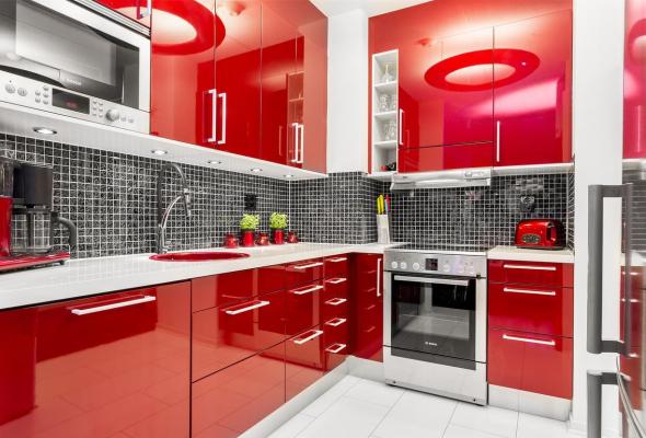 Кухня красная палитра