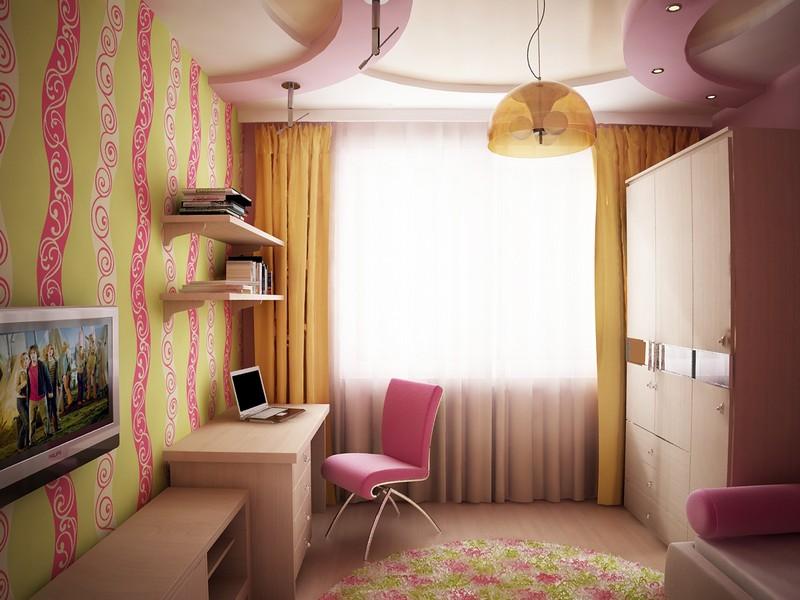 Интерьер детской комнаты для девочки в хрущёвке: подборка фото