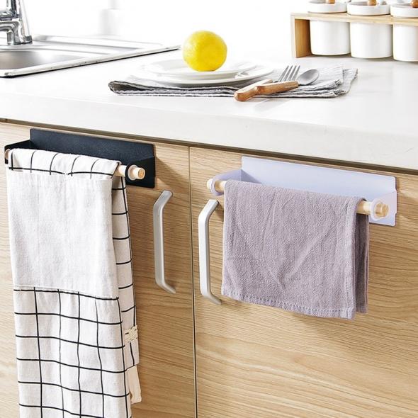 куда на кухне повесить полотенца