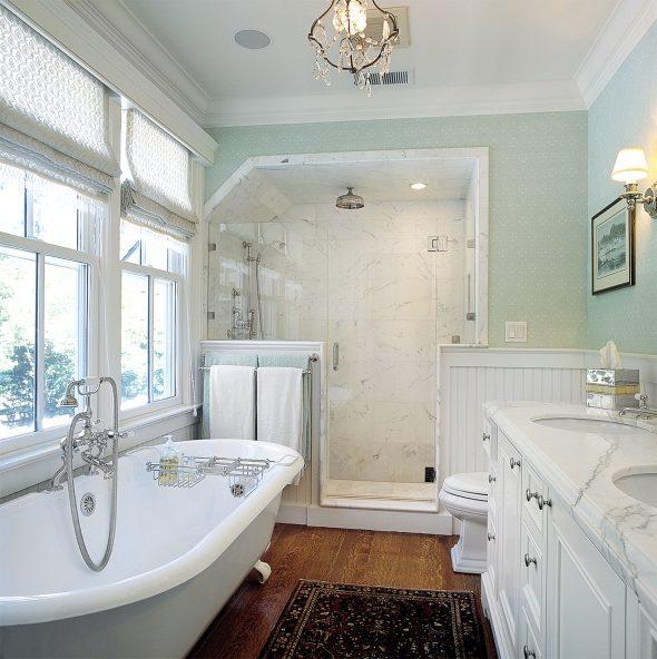 Ванная комната в стиле американской классики
