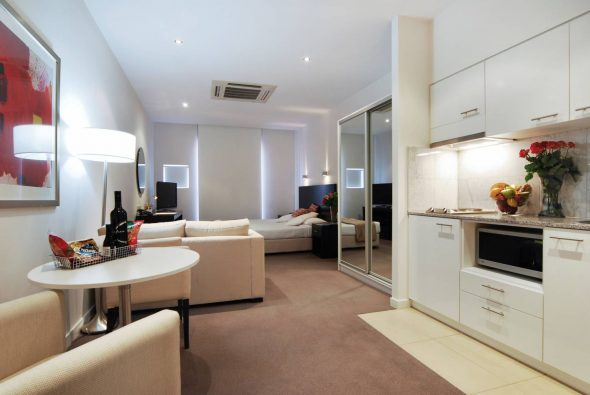 мебель для студии квартиры 25 кв м