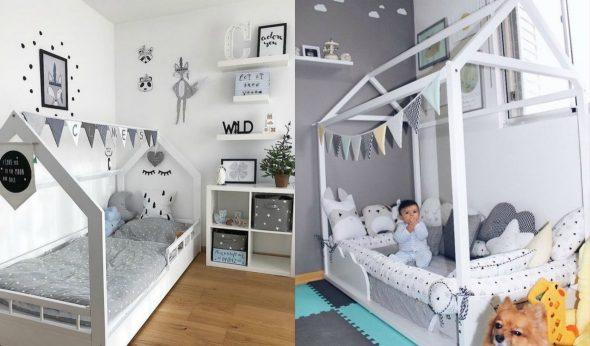 Вариант оформления домика-кроватки