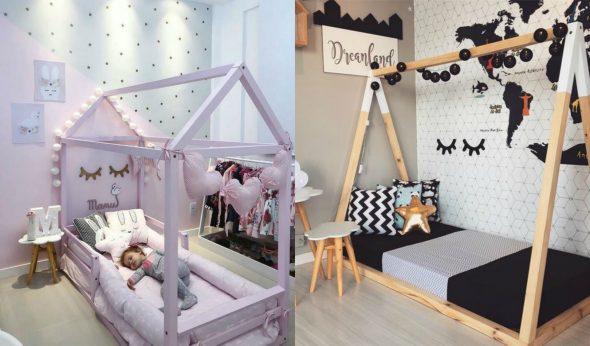 Варианты кровати-домика