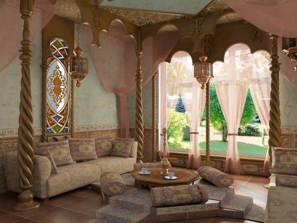 Арабский интерьер песочный цвет
