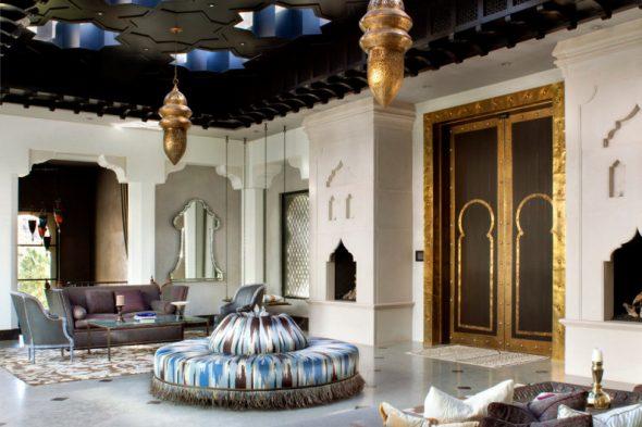 Арабский интерьер в гостиной