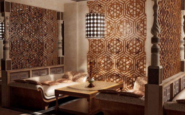 Красивый интерьер в арабском стиле