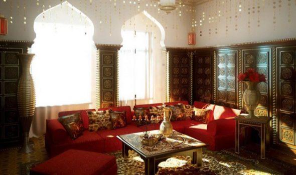 арочные окна в арабском интерьере