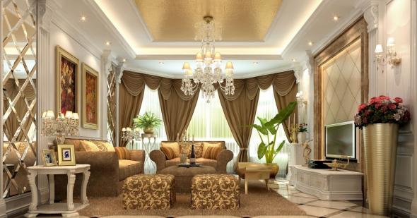 Золотой арабский интерьер