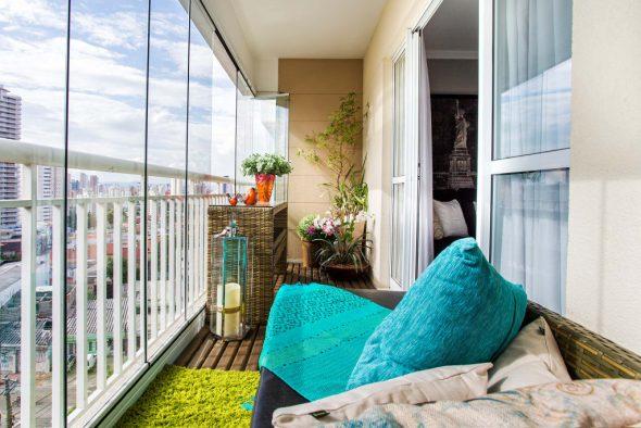 Дизайн холодного балкона