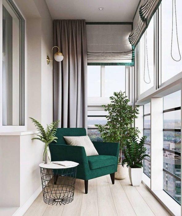Вариант дизайна балкона