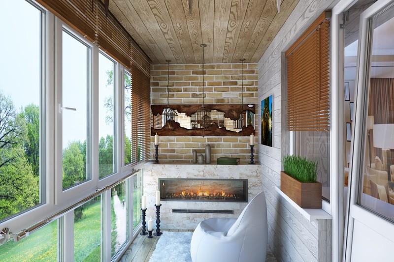 Дизайн холодного балкона: подборка фото