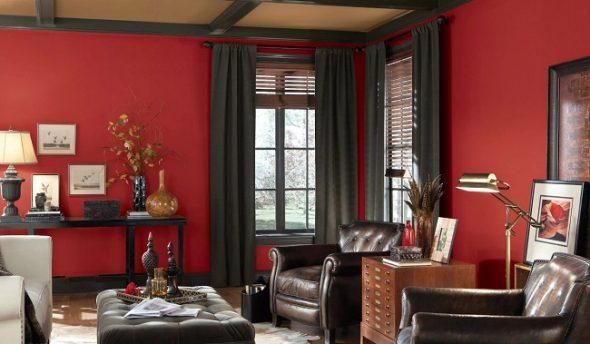 Бордовый цвет в интерьере