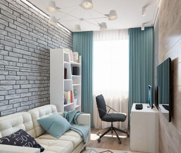 Небольшая комната в стиле лофт для подростка