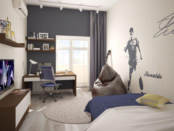Современная комната мальчика-подростка
