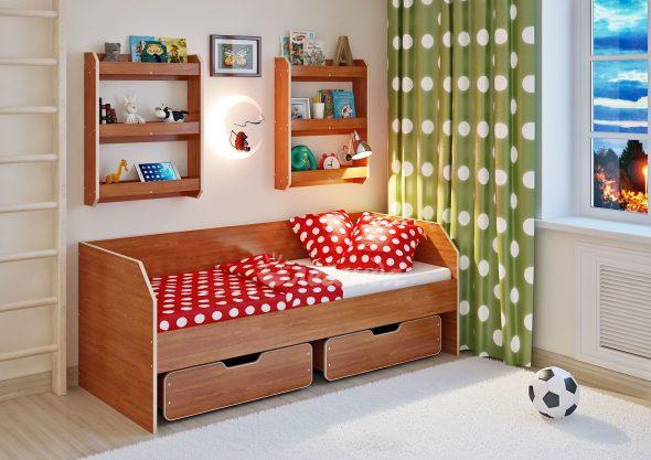 Кровать со встроенными ящиками
