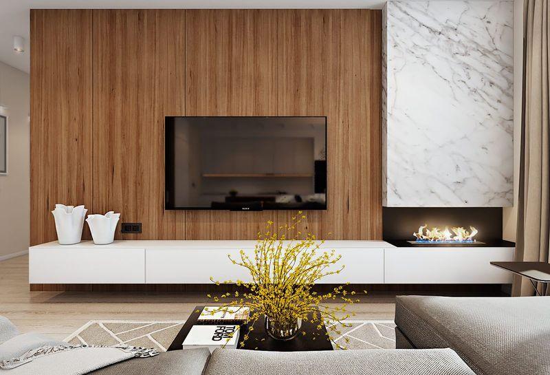 Как красиво оформить стену с телевизором
