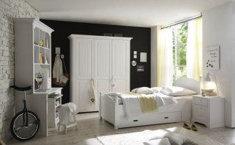 Стены под белую мебель спальни: приятные взору решения