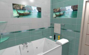 Плитка для ванной комнаты - всегда яркие решения