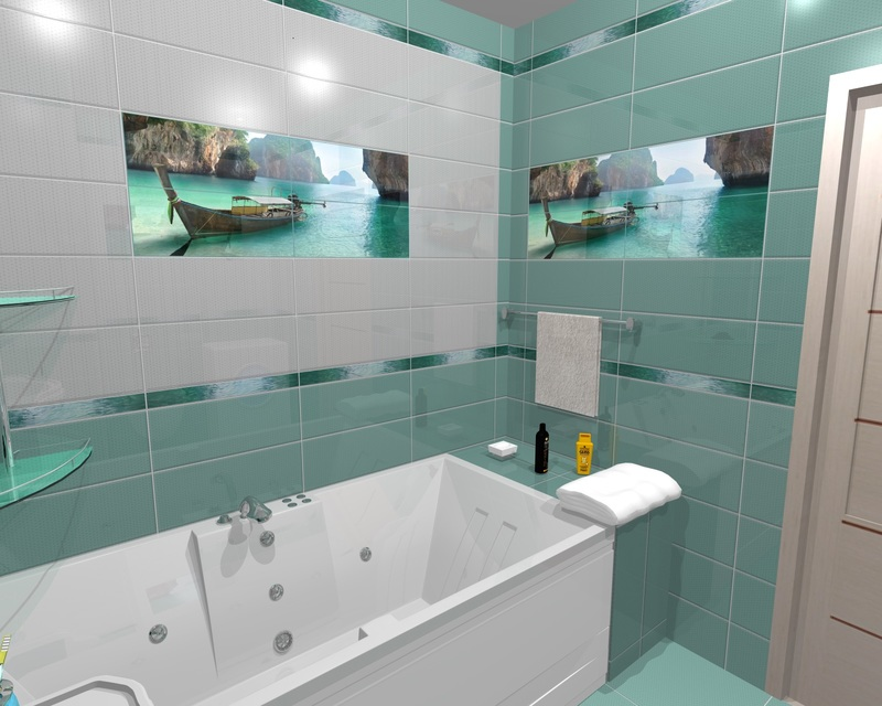 Яркие идеи декора плиткой для ванной комнаты: сочетание красоты и практичности