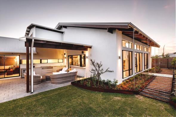 Оригинальный дизайн одноэтажного дома