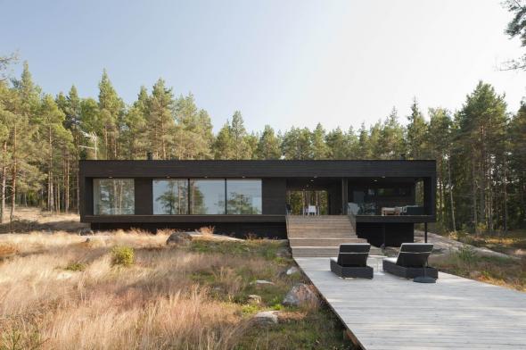 Одноэтажный дом в стиле минимализма