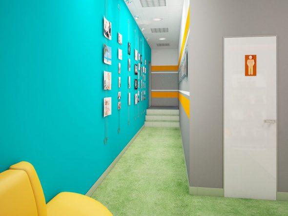 Фотографии в коридоре