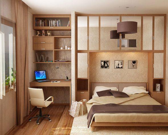 Рабочее место в спальне