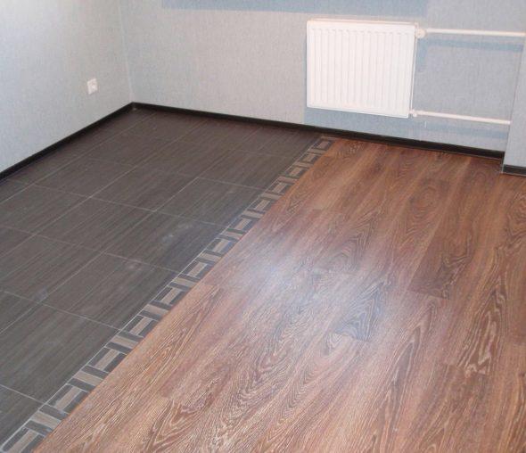 Комбинированные полы: плитка и ламинат
