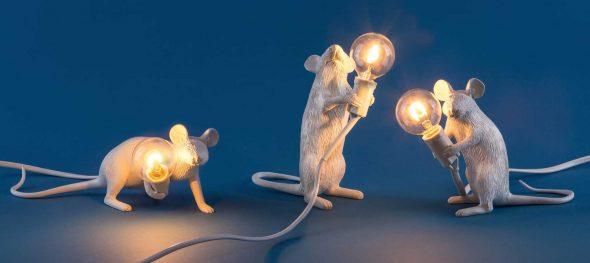 Светильники в виде мышат