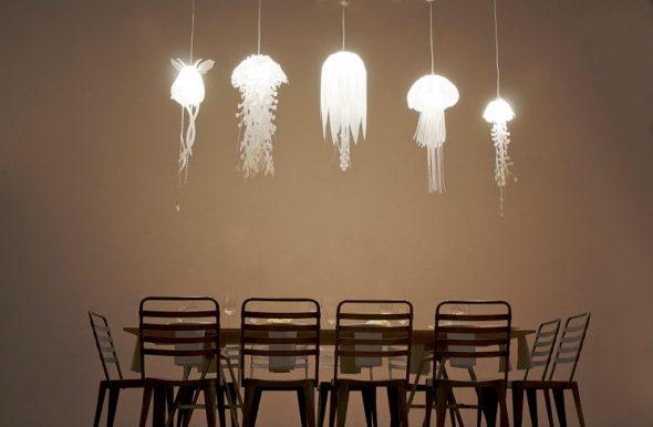 Светильники в виде медуз