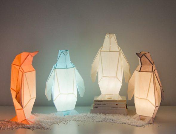 Светильники в виде животных в стиле оригами