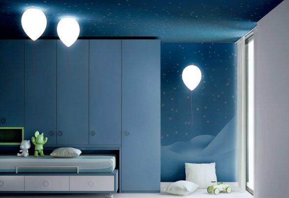 Светильники в виде воздушных шаров