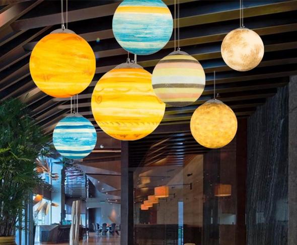 Светильники в виде планет