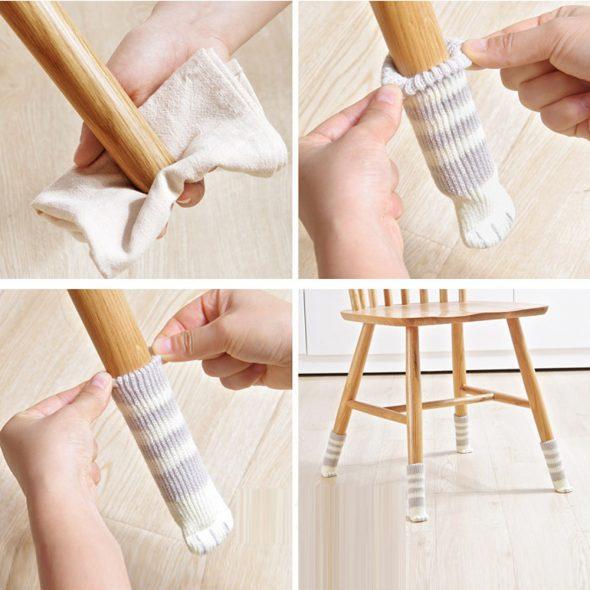 Как делают защитные носочки для ножек стула