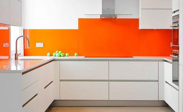 Оранжевый цвет в рабочей зоне