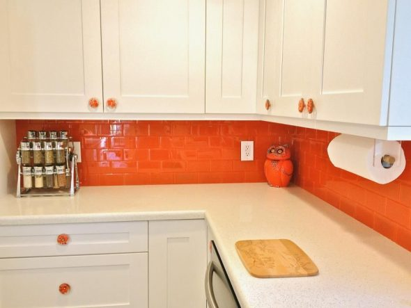 Ярко-оранжевый фартук